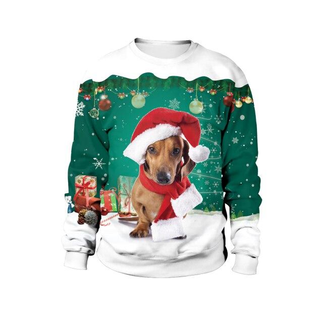 Dachshund Merry Christmas Sweater