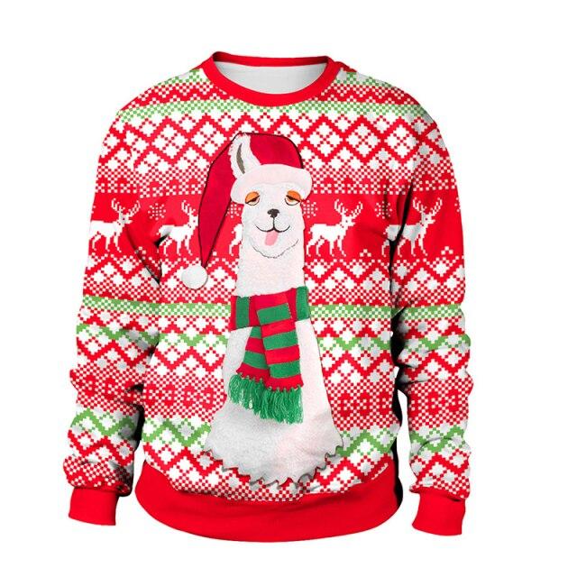 Snow Camel Christmas Sweater