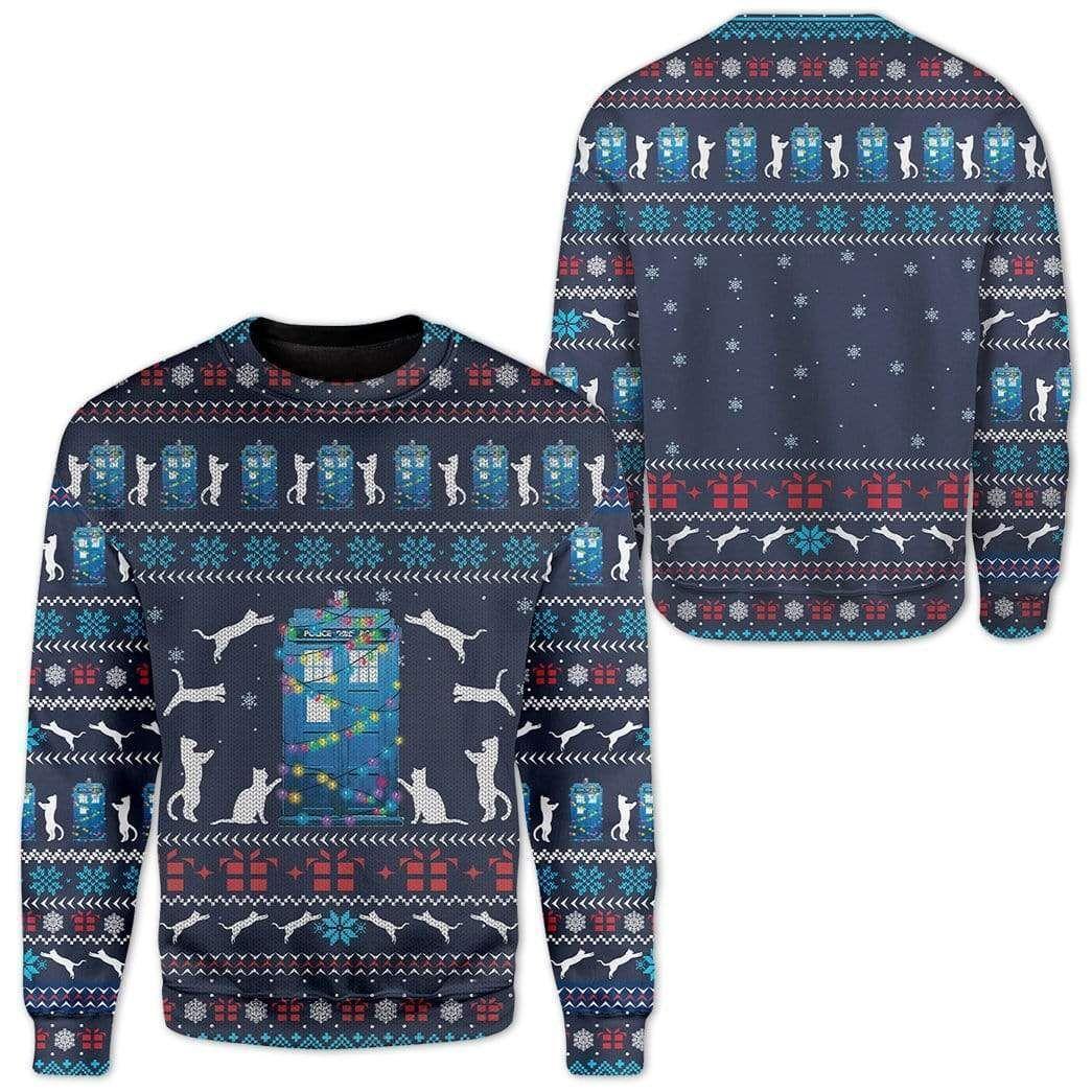 Cat around Police Office Christmas Sweater