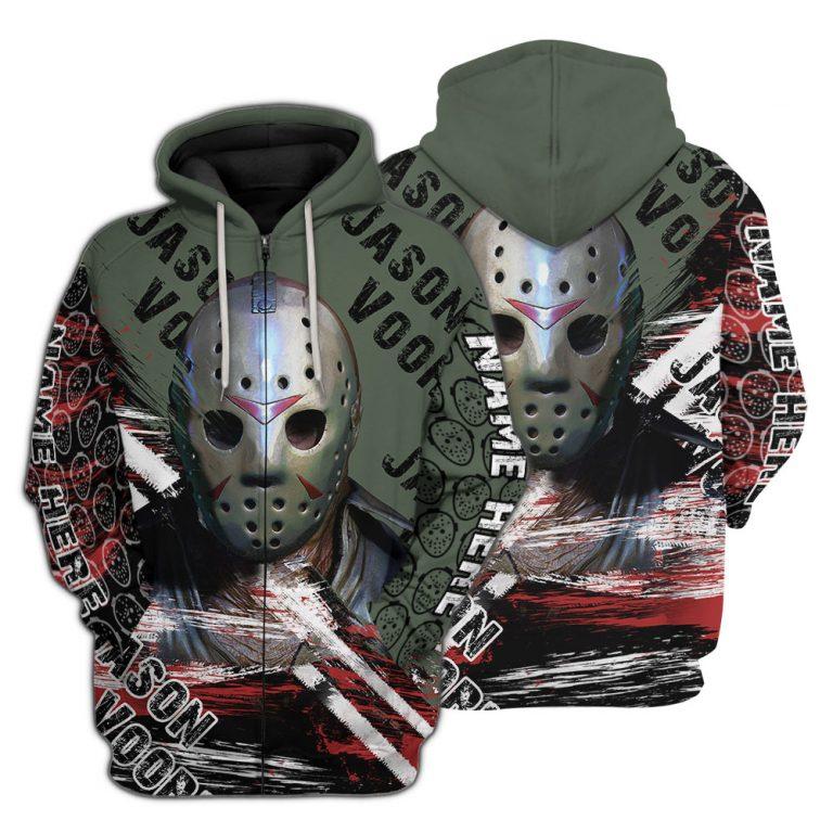 Jason Voorhees Friday the 13th Custom Name 3D Shirt