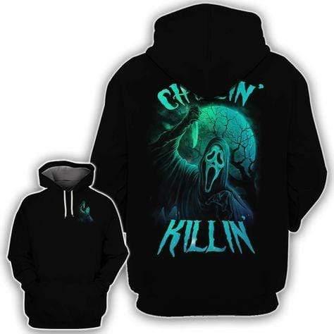 Skull Chilling Killing Horror Hoodie 3D