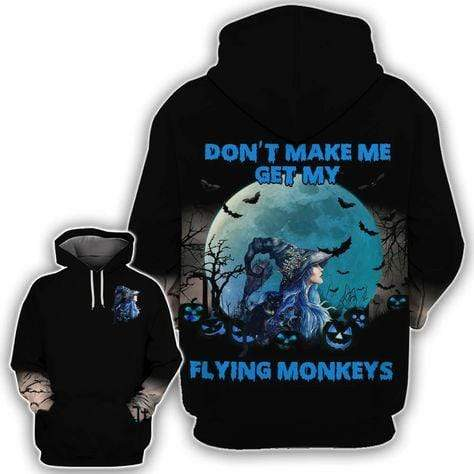 Halloween Witch Flying Monkey Hoodie 3D