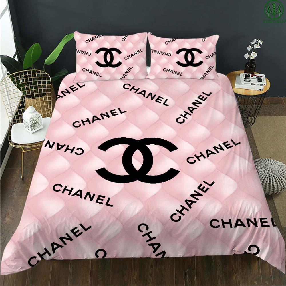 Chanel fish scales pastel bedding set