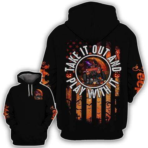 Jeep Take It Out Halloween Hoodie 3D
