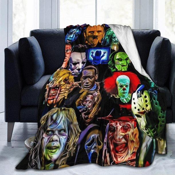 Horror Serial Killer Halloween Fleece Blanket
