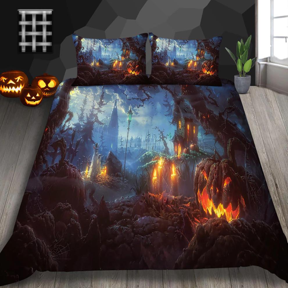 Hallows Pasture Halloween Bedding Set