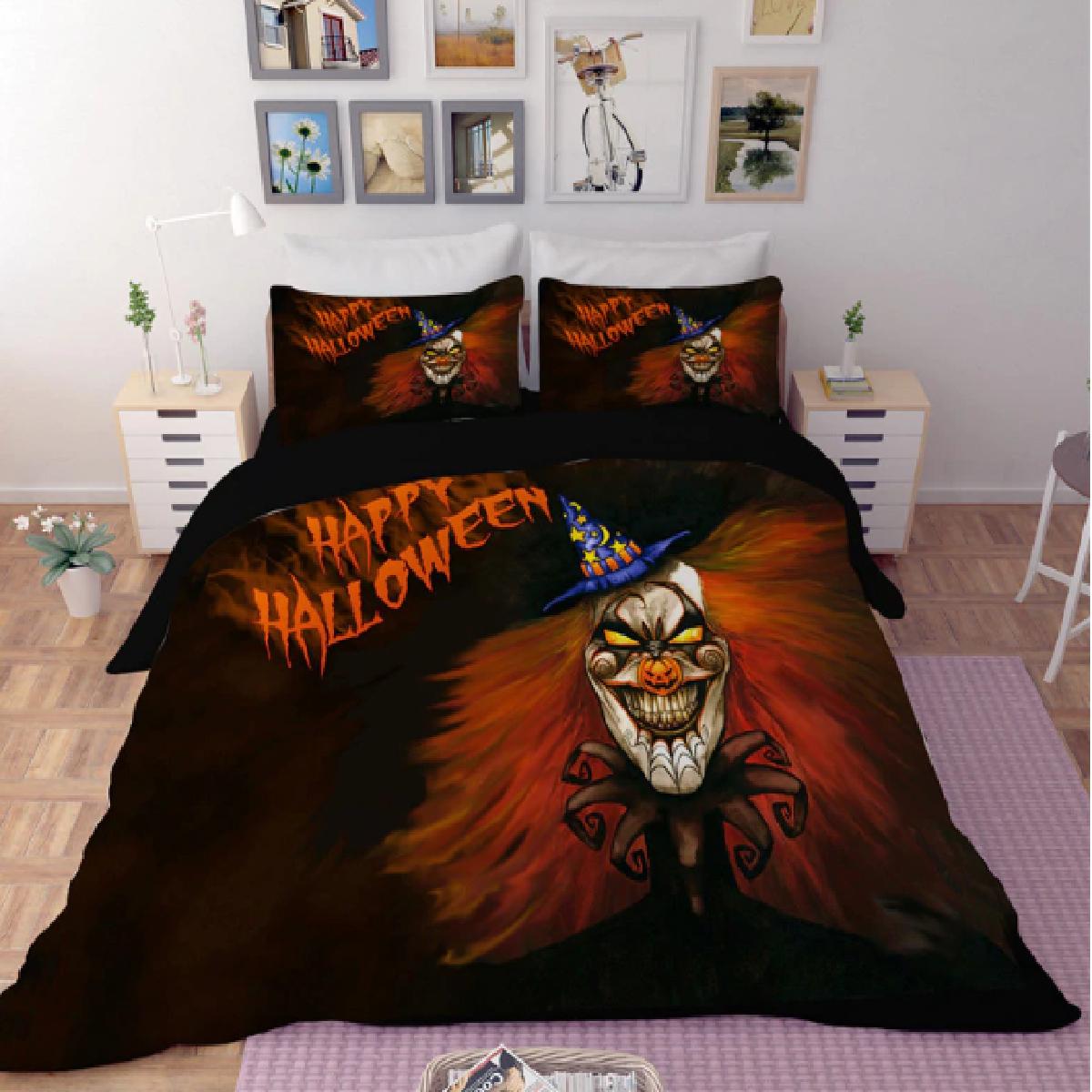 Happy Halloween Clown Duvet Bedding Set