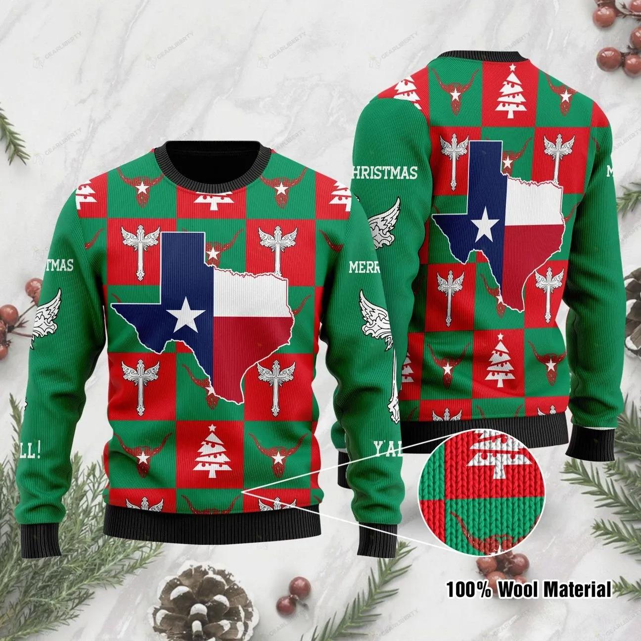 Texas Flag Christmas Sweater