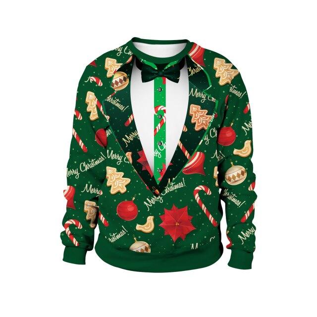 Vest Pattern Christmas Sweater