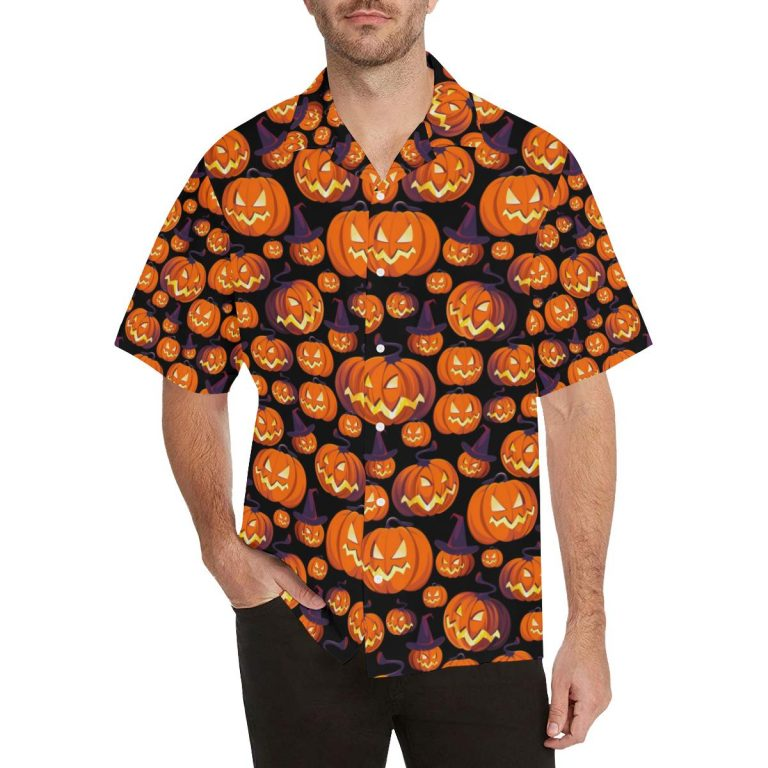 Halloween Pumpkin Pattern hawaiian shirt