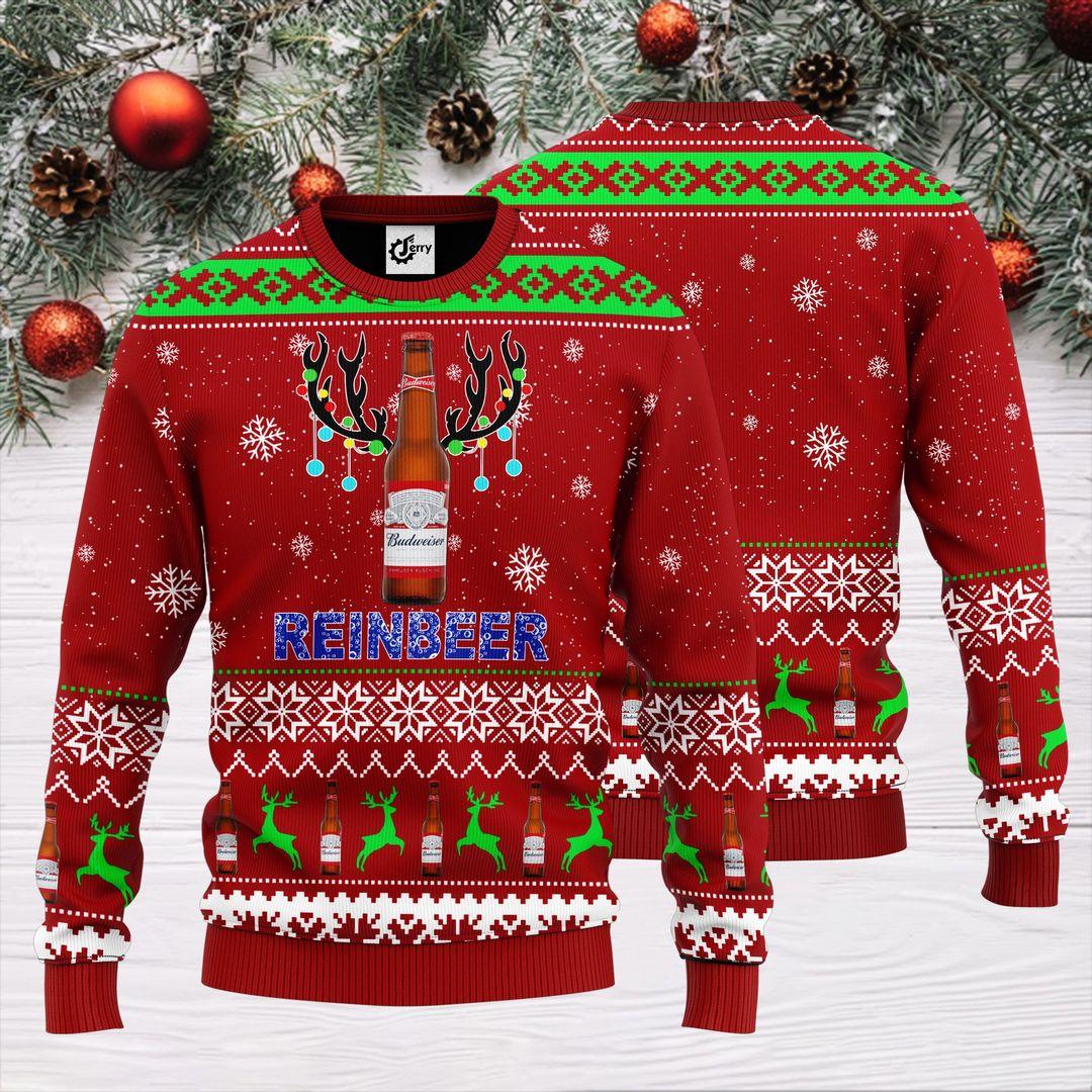 Budweiser Reinbeer Christmas Sweater