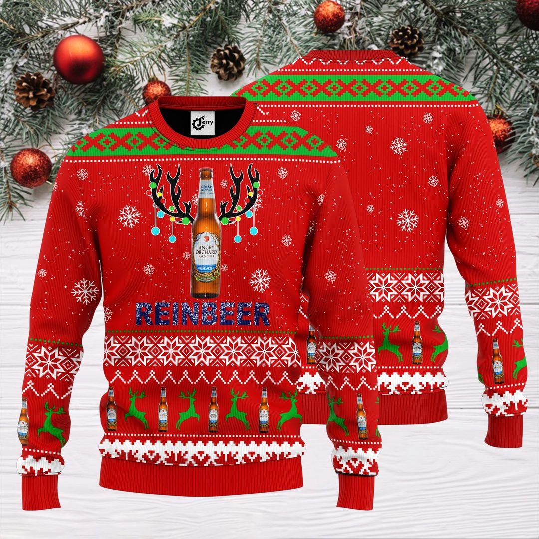 Angry Orchard Reinbeer Christmas Sweater