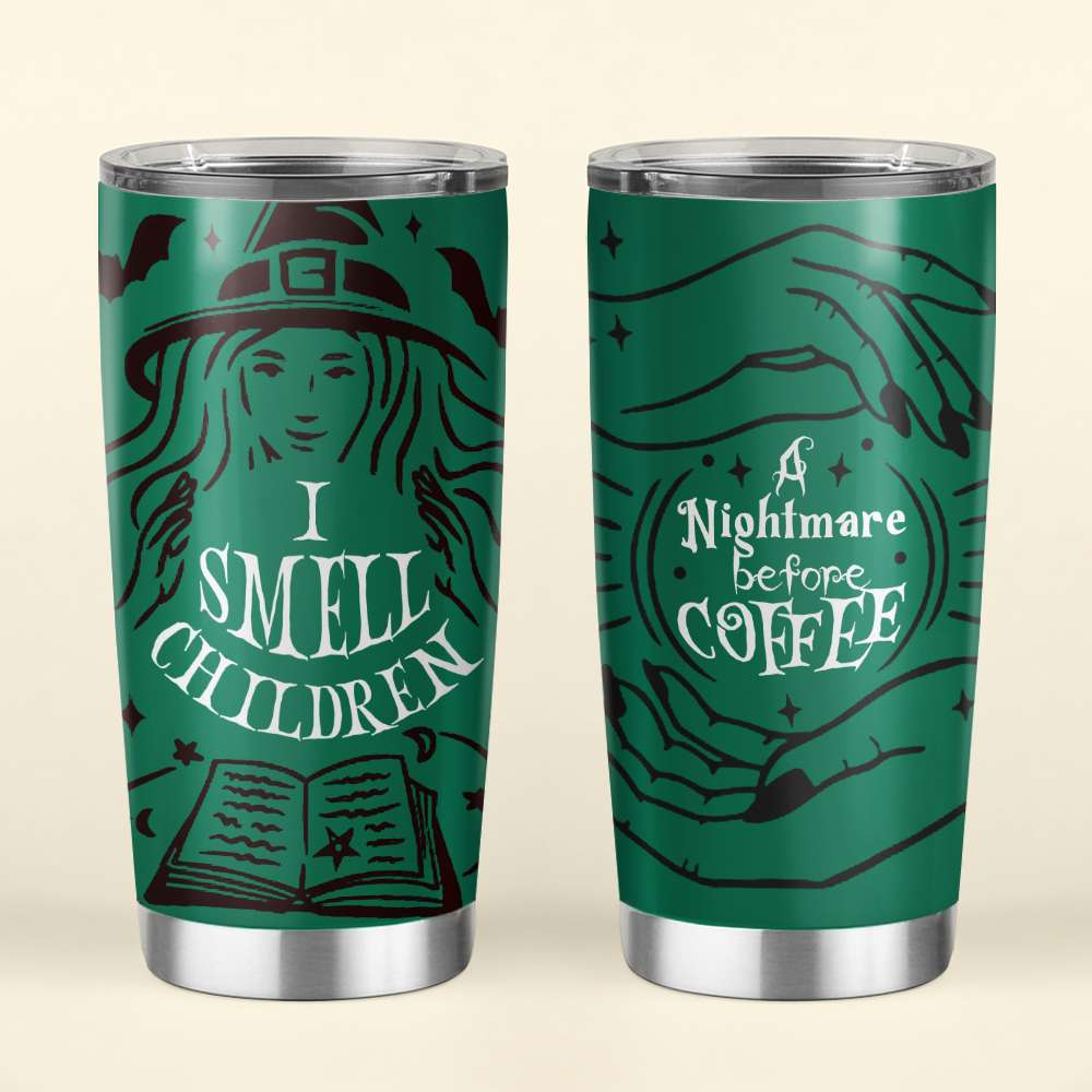 Witch A Nightmare Before Coffee Starbucks Halloween Steel Tumbler