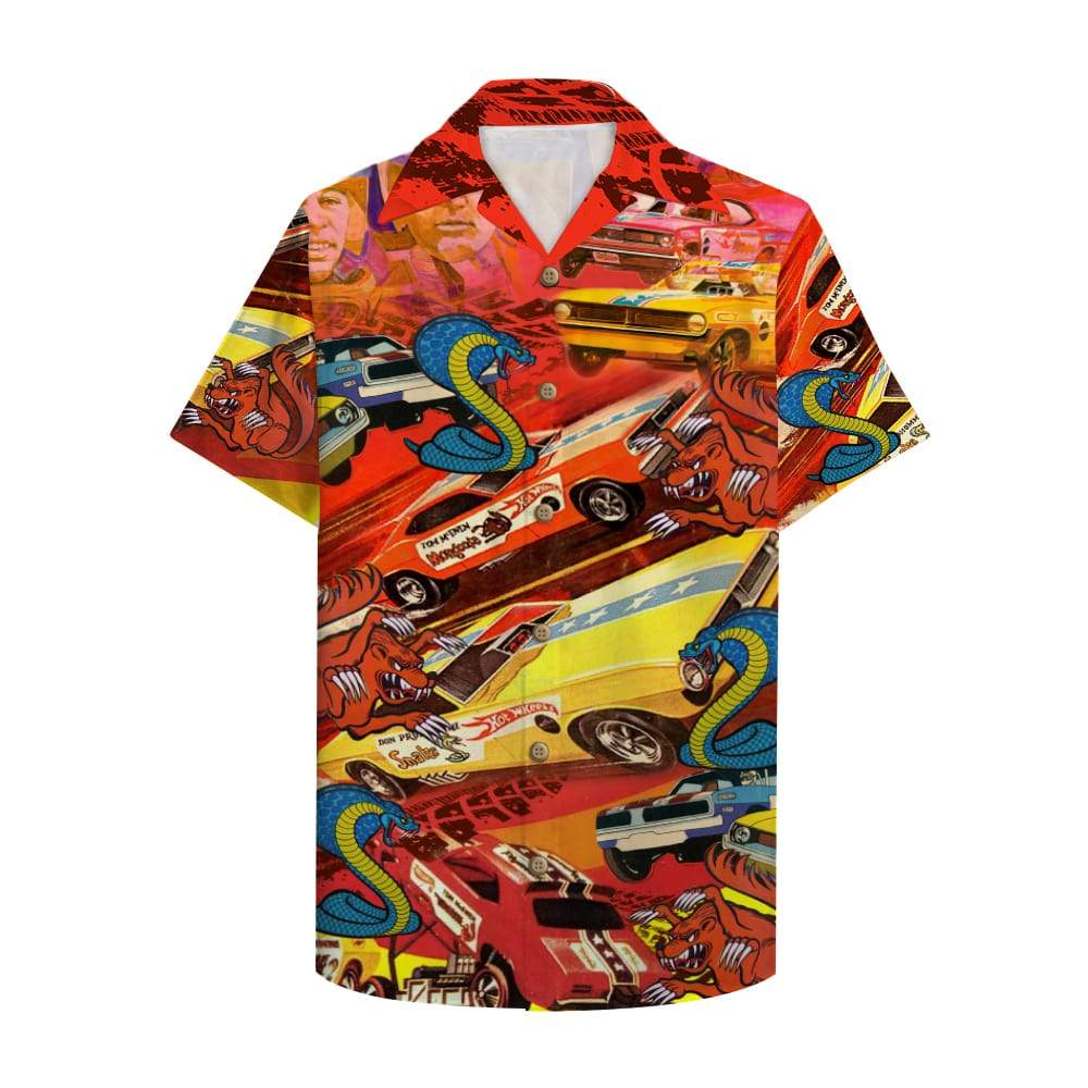 Drag Racing Snake and mongoose car Hawaiian Shirt