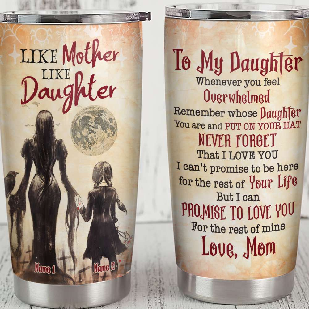 Personalized Halloween Like mother like daughter Tumbler Cup