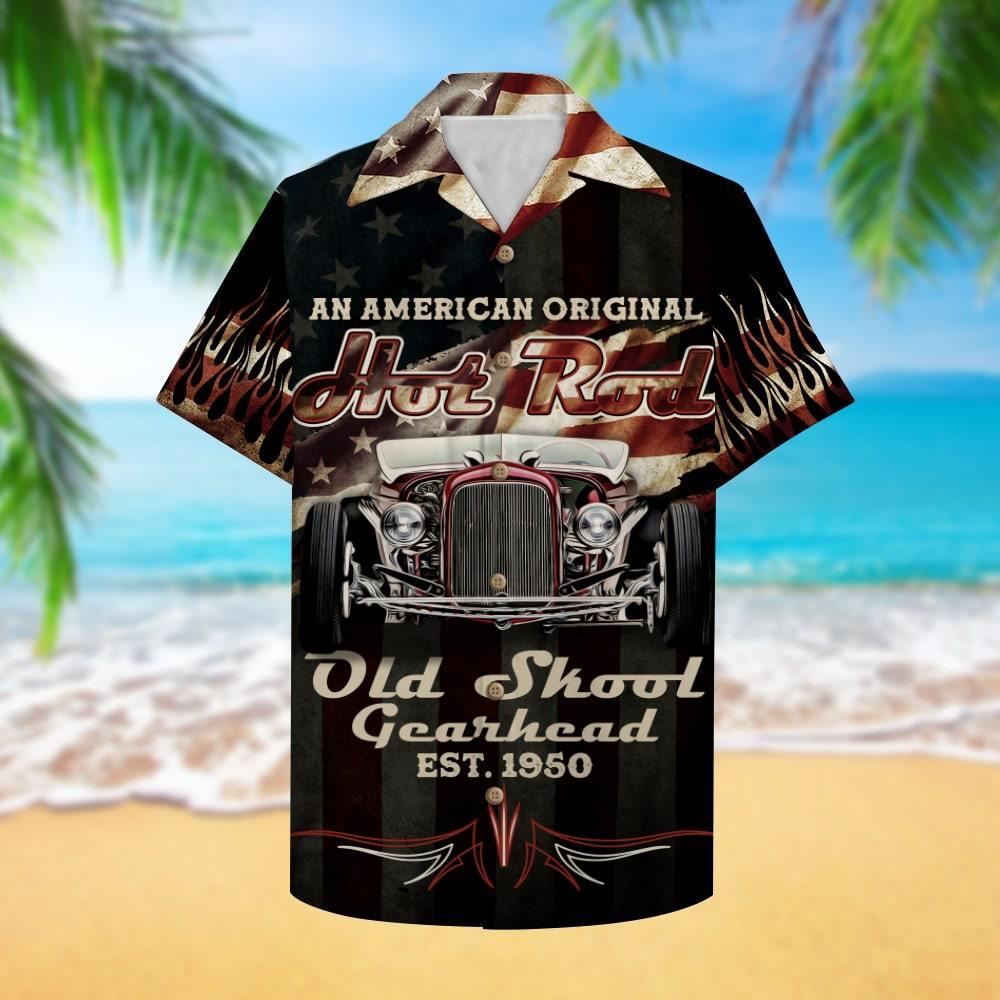 Hot Rod An American original hot rod Old skool gearhead Hawaiian Shirt Summer Shirt