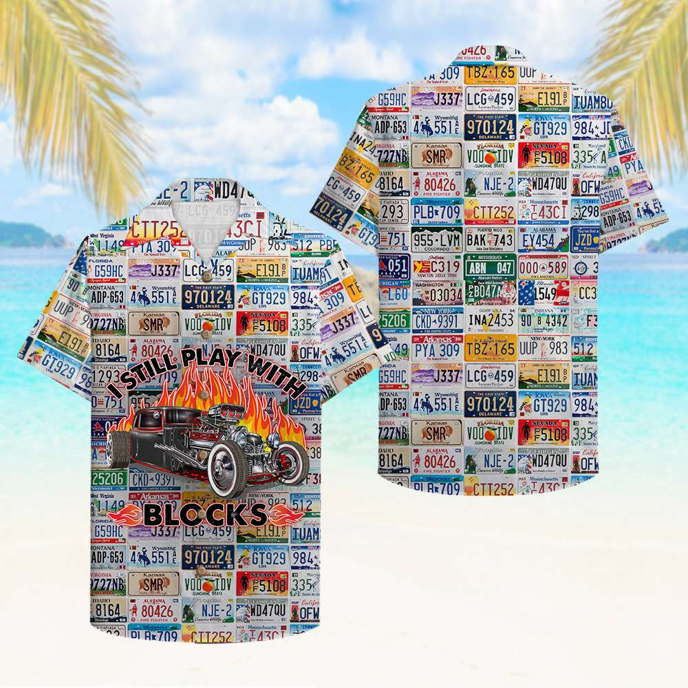 Drag Racing Still play with blocks Hawaiian Shirt Button Up Shirt
