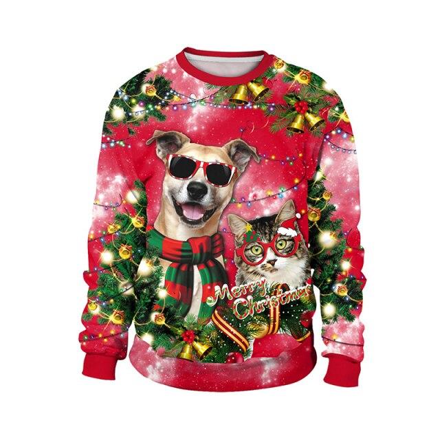 Dog Cat Christmas Sweater
