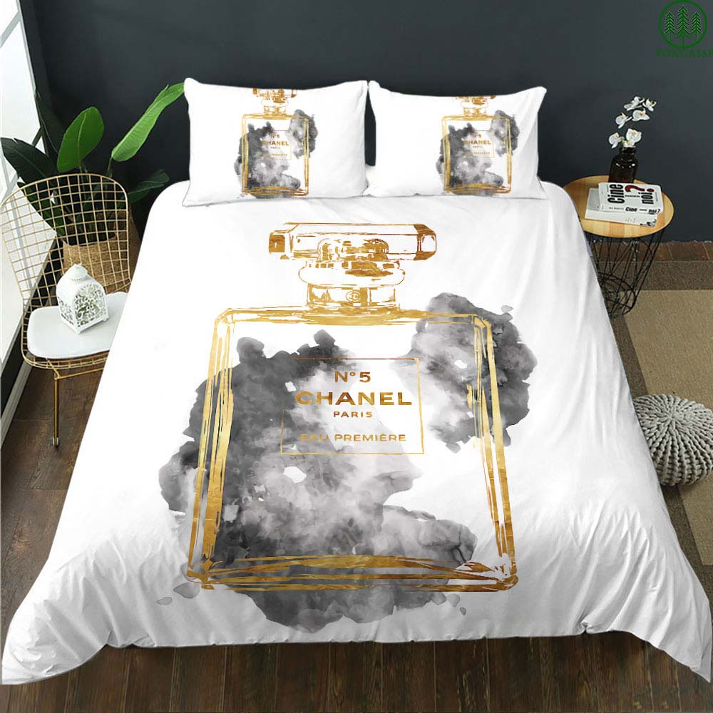 Chanel paris perfume eau premiere bedding set
