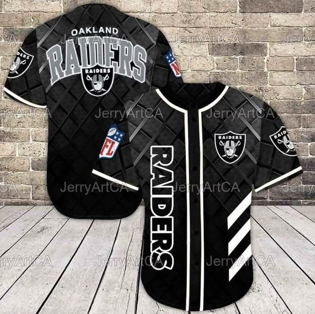 Oakland Raiders classic Baseball Jersey shirt