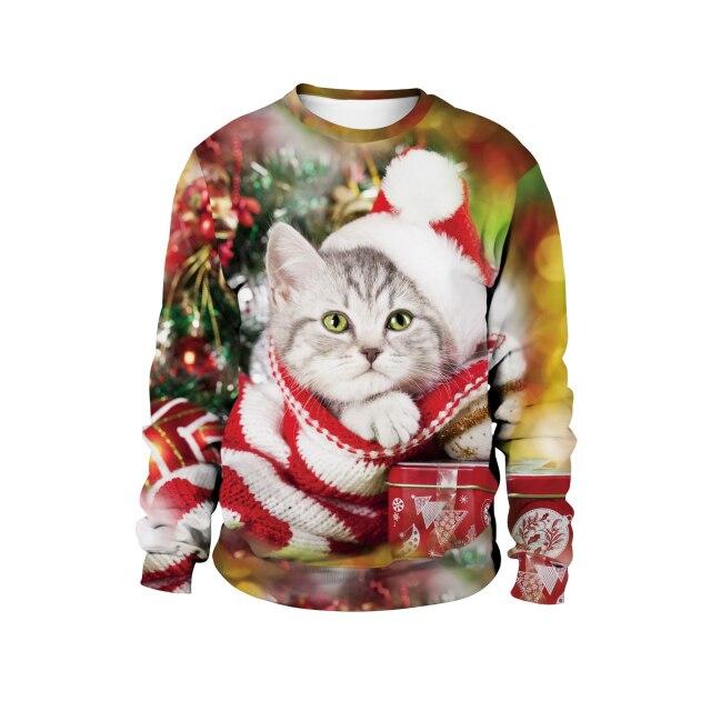 Cat Merry Christmas Sweater