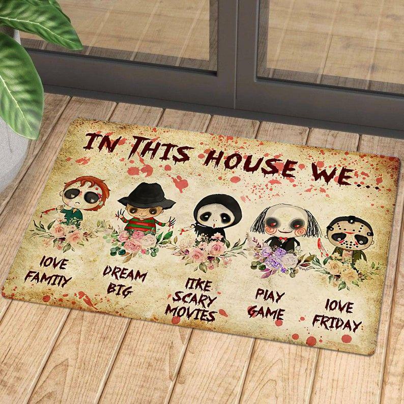 Horror Welcome Halloween cartoon character Doormat