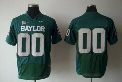 Baylor Bears Custom Name and Number College Football Jersey Green shirt