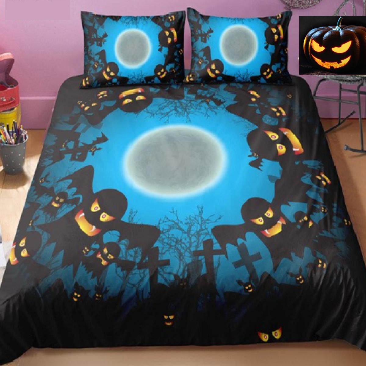 Halloween scary Ghosts Duvet Bedding Set