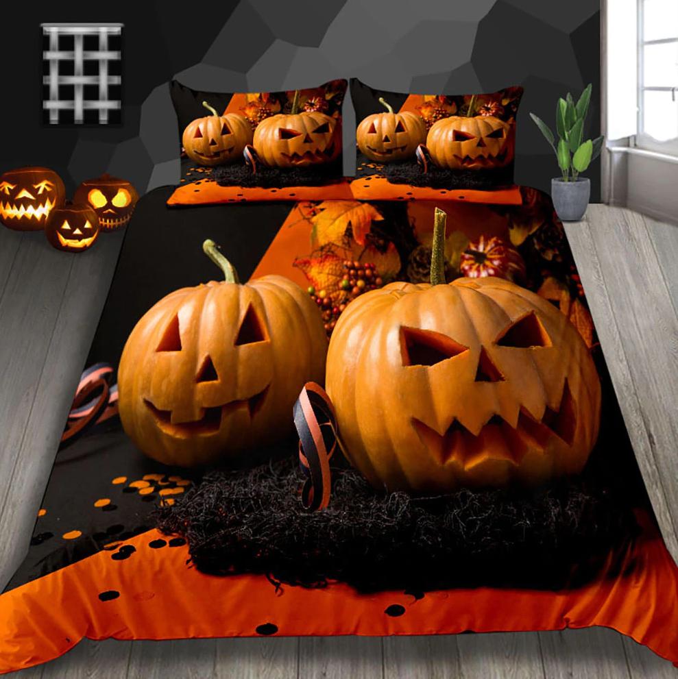 3D Pumpkins farmer Halloween Bedding Set