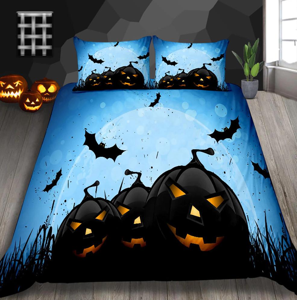 Pumpkin bomber Halloween Moon Bedding Set