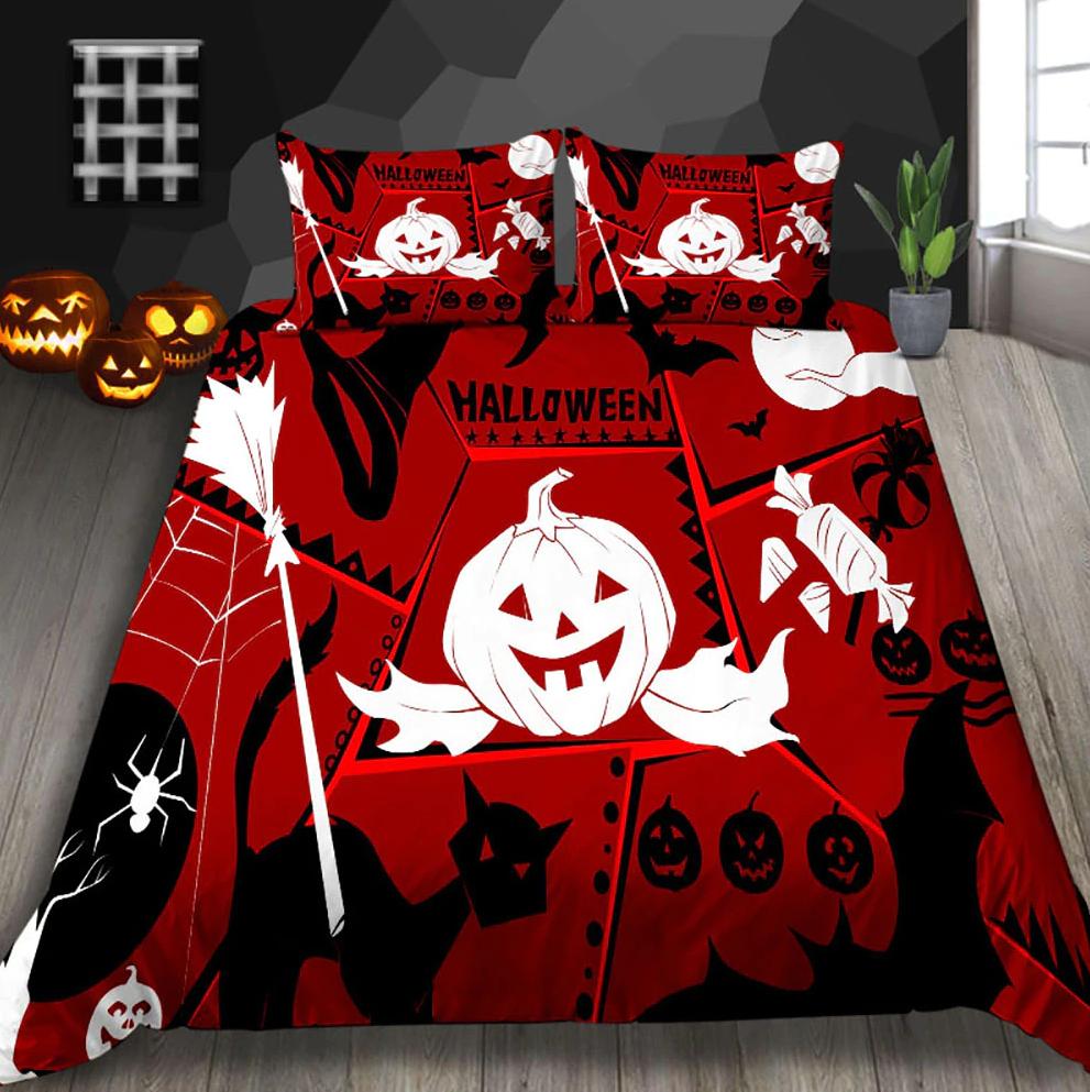 The Happy Halloween ghost pumpkin Bedding Set