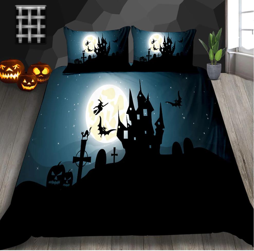The Dark Castle Halloween Bedding Set