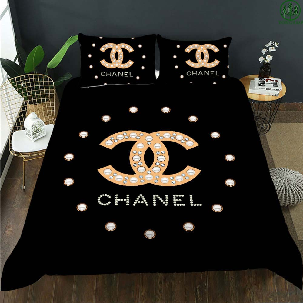 Chanel diamond luxury bedding set