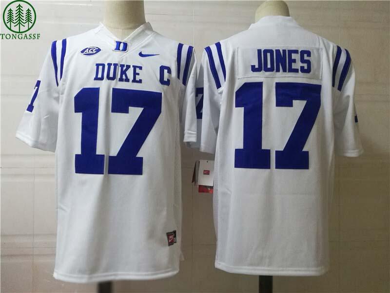 Duke Blue Devils 17 JONES College Football Jersey White