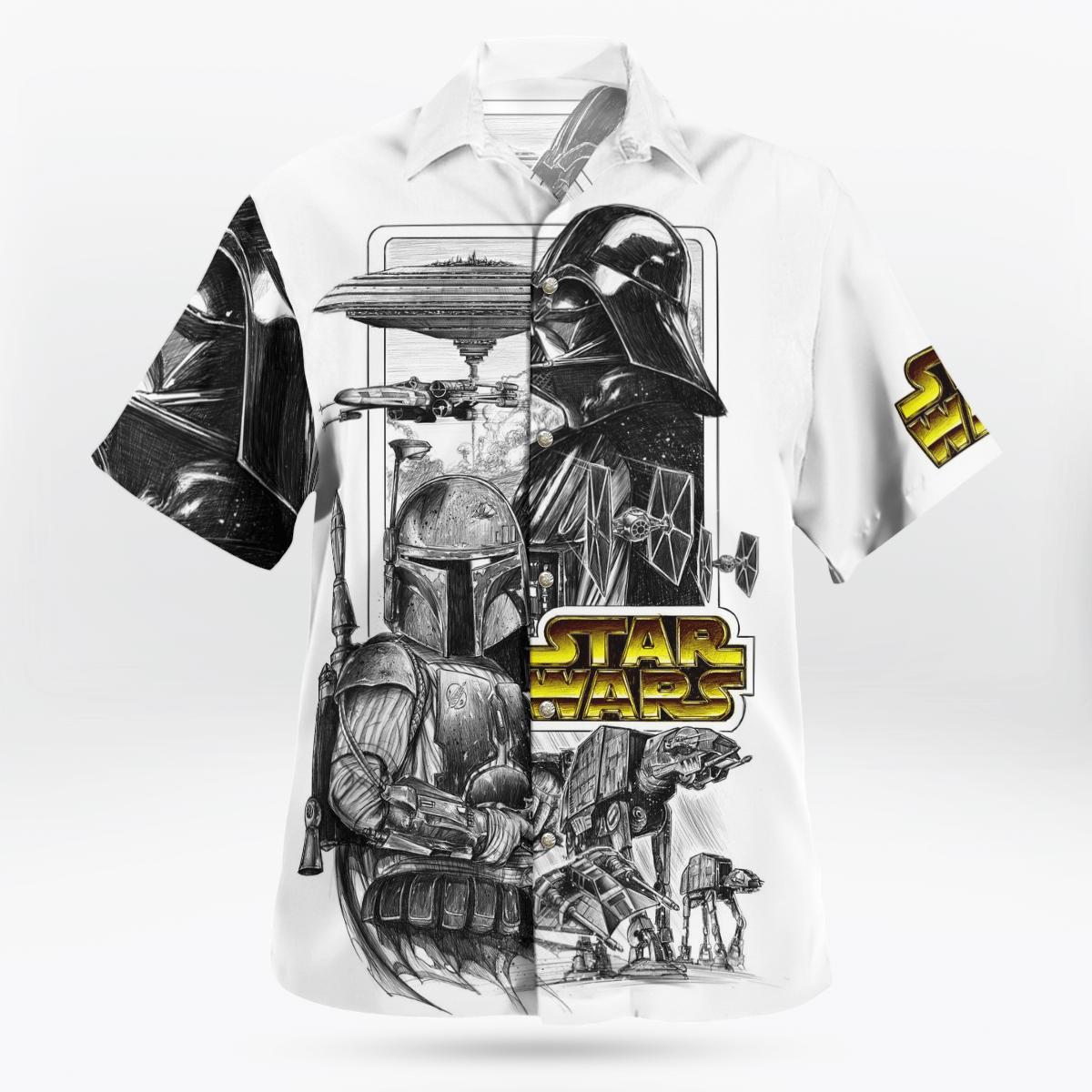Boba Fett Varth Vader Star wars Hawaiian shirt