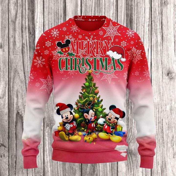 Mickey Merry Christmas 3D Full Printed Hoodie T-shirt