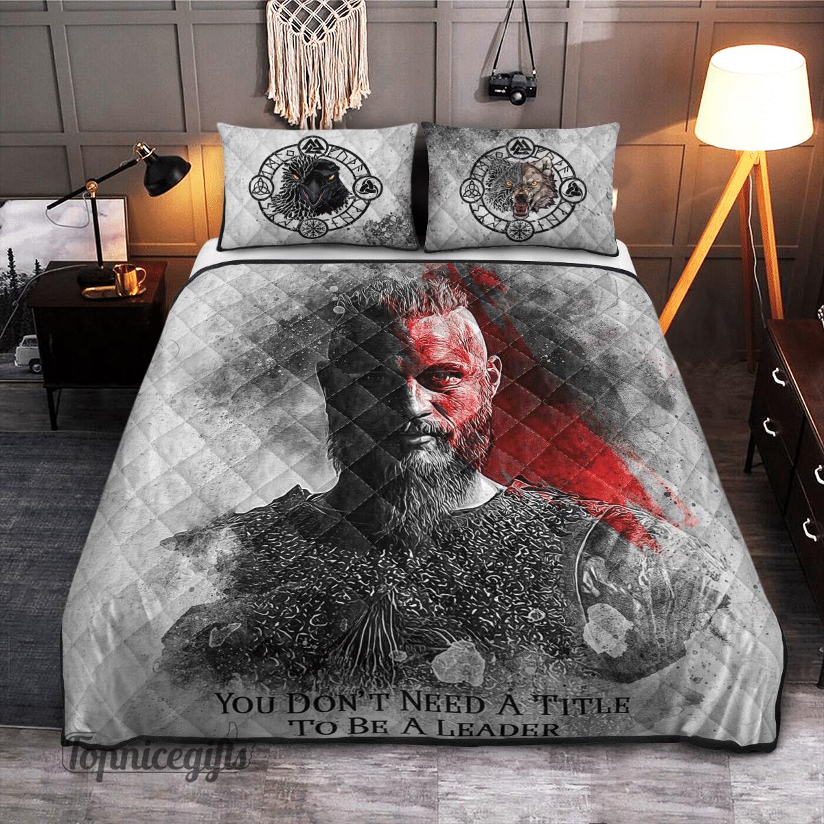 Viking Ragnar Lothbrok Leader Quilt Bedding Set