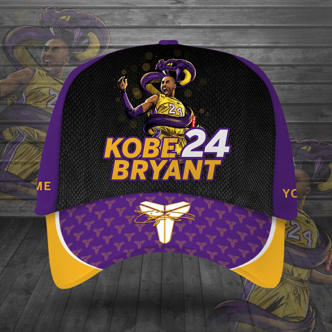Custom Name Kobe Bryant 24 LAL classic Cap
