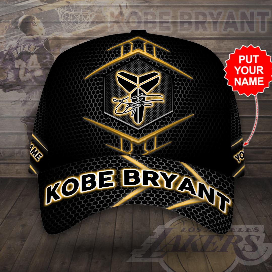 Personalized Name Kobe Bryant Signature black version Cap