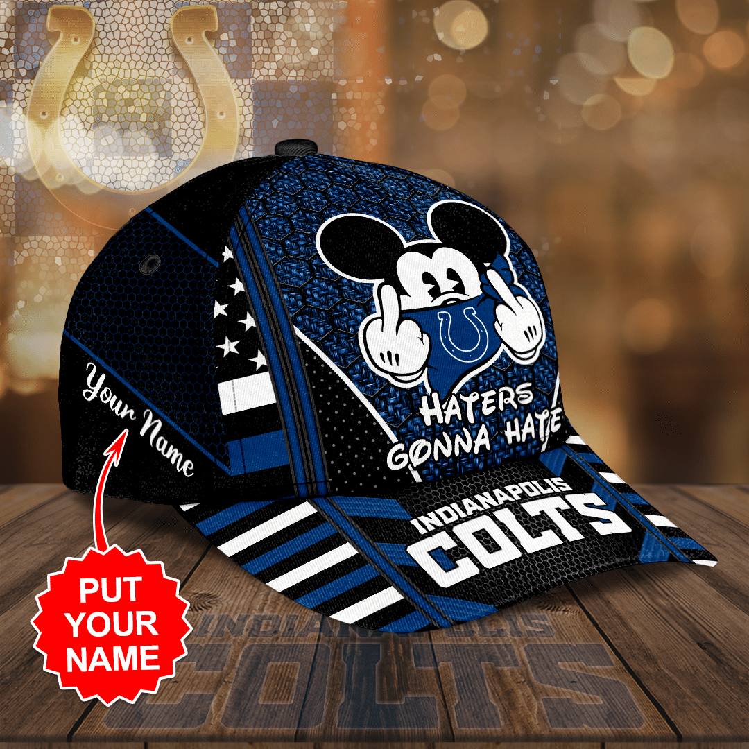 Personalized NFL Indianapolis Colts Haters Gonna Hate Full Printed Cap