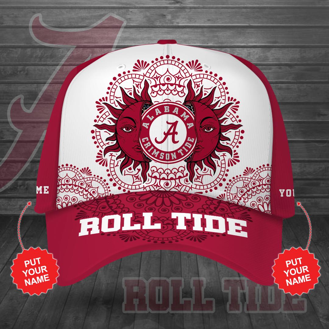 Custom Name NCAA Alabama Crimson Tide Roll Atide Printed Hat for fans