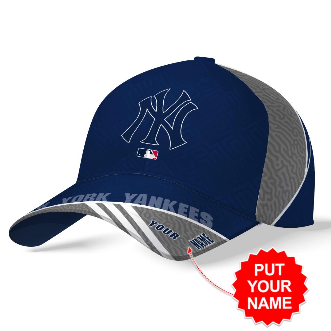 Custom Name MLB New York Yankees Printed Hat