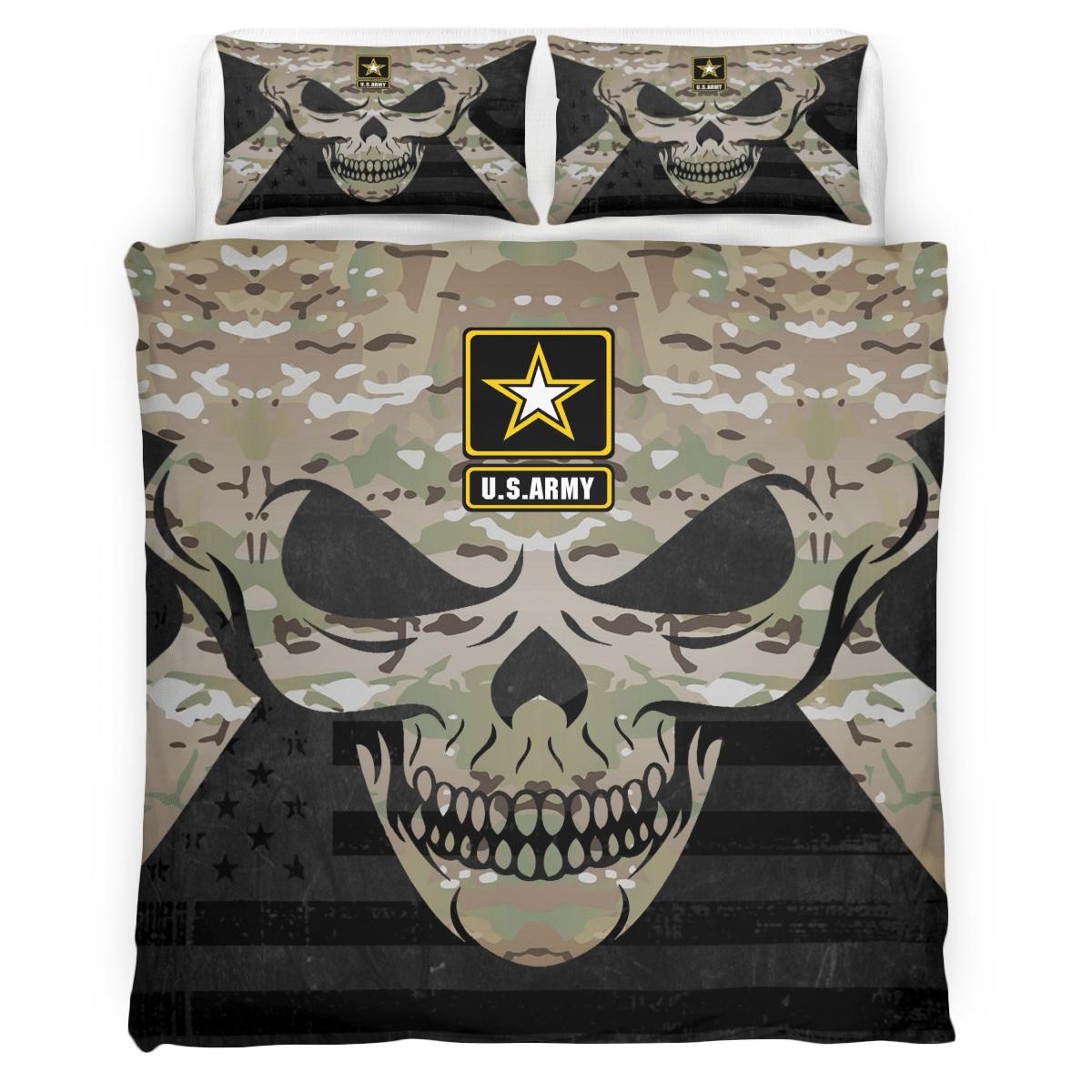 US Army Camo Skull Bedding Set