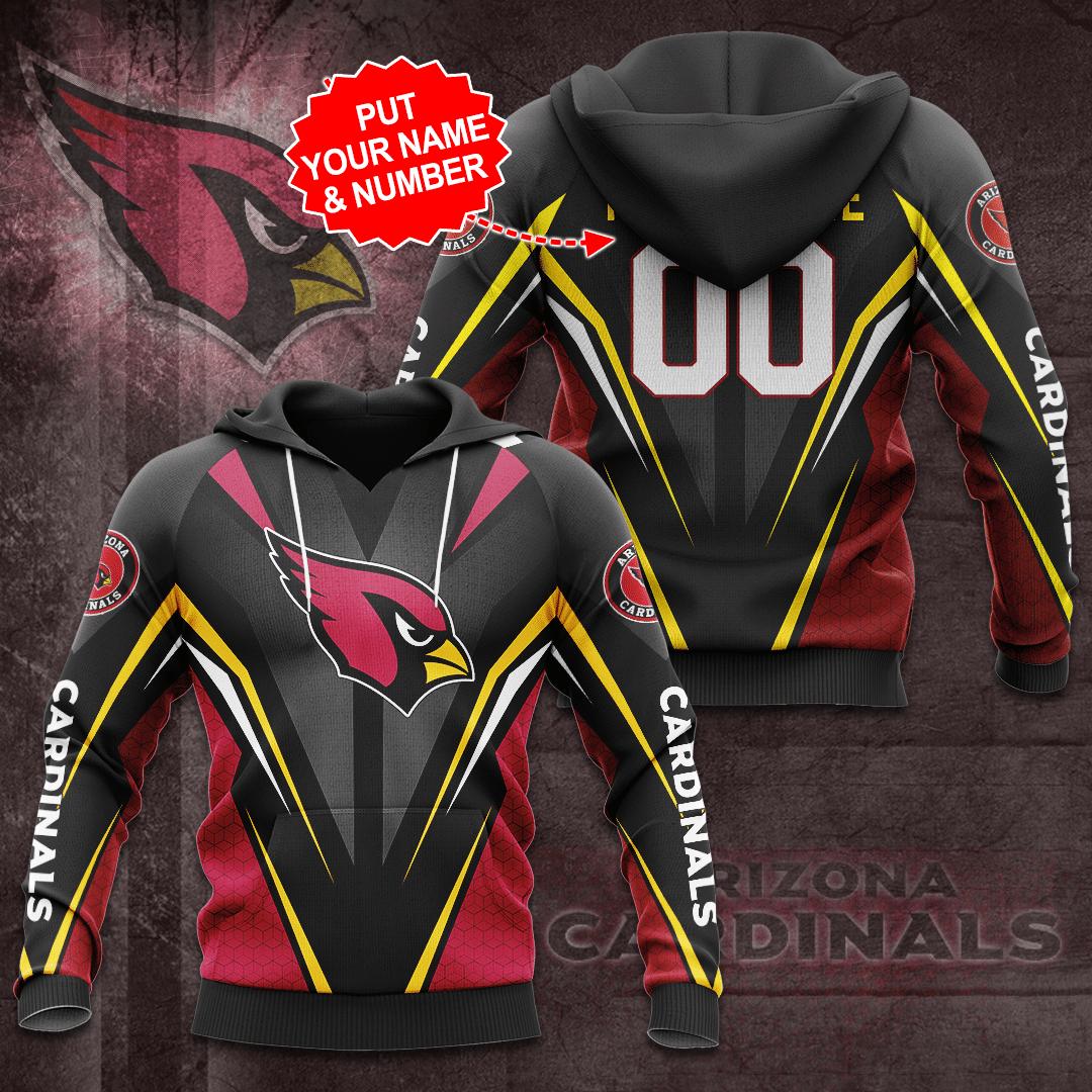 Custom Name NFL Arizona Cardinals 3D Hoodie