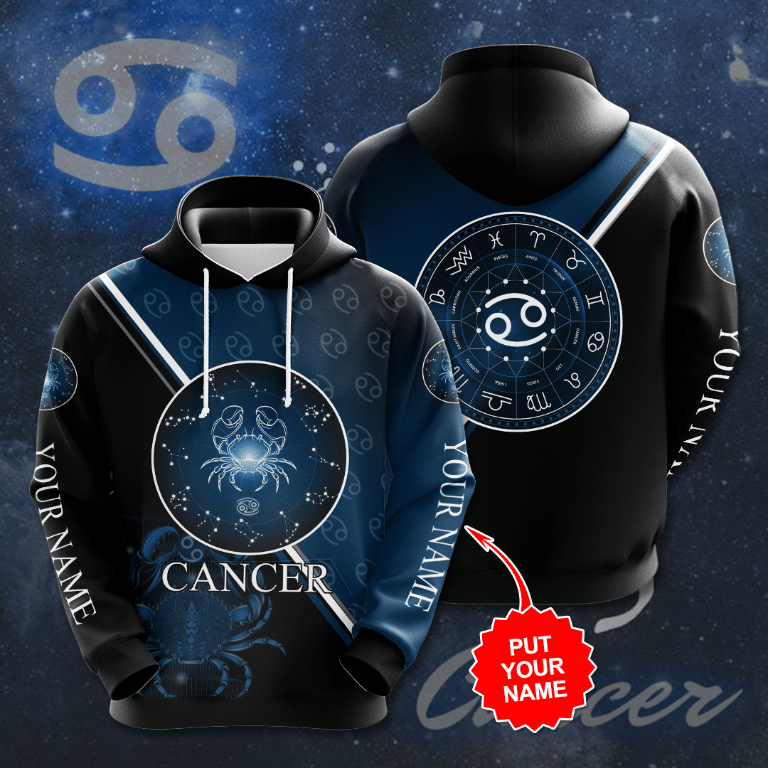 Personalized Zodiac Cancer 3D Full Printed Hoodie