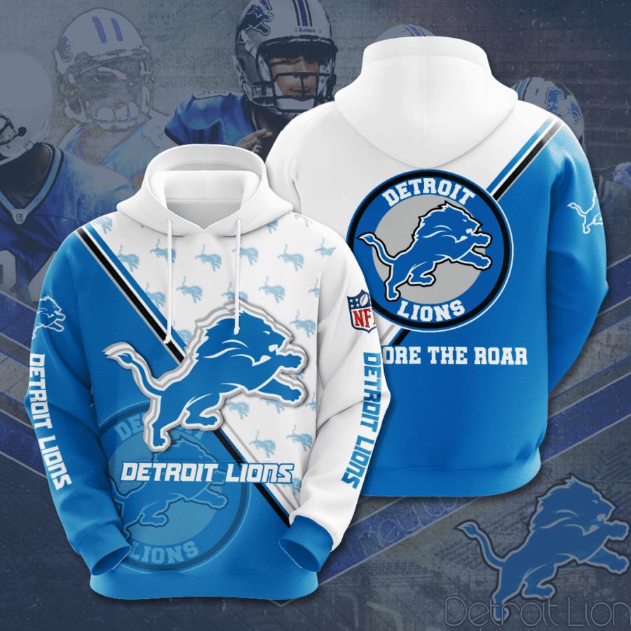 NFL Detroit Lions Restore the Roar 3D Printed Hoodie