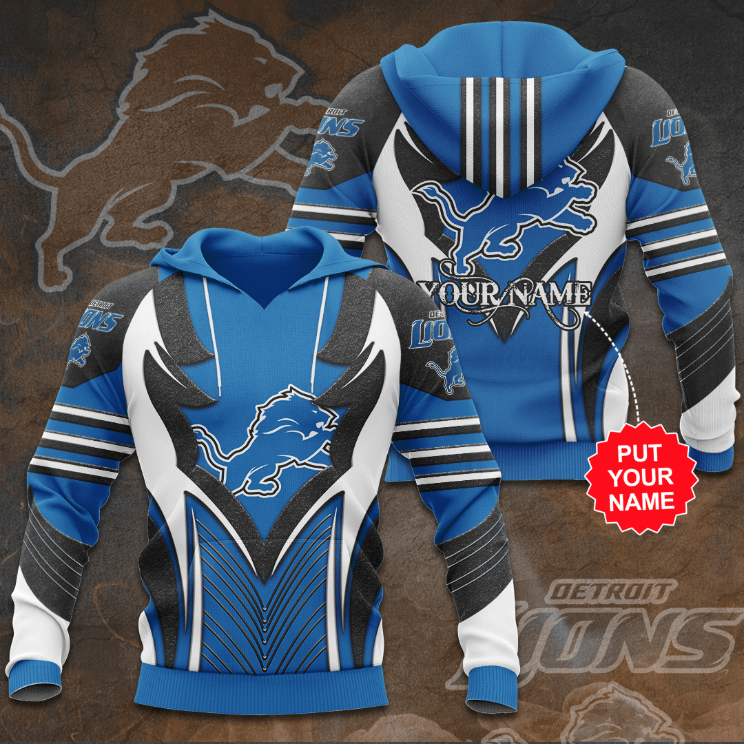 Personalized Name Detroit Lions AOP Hoodie