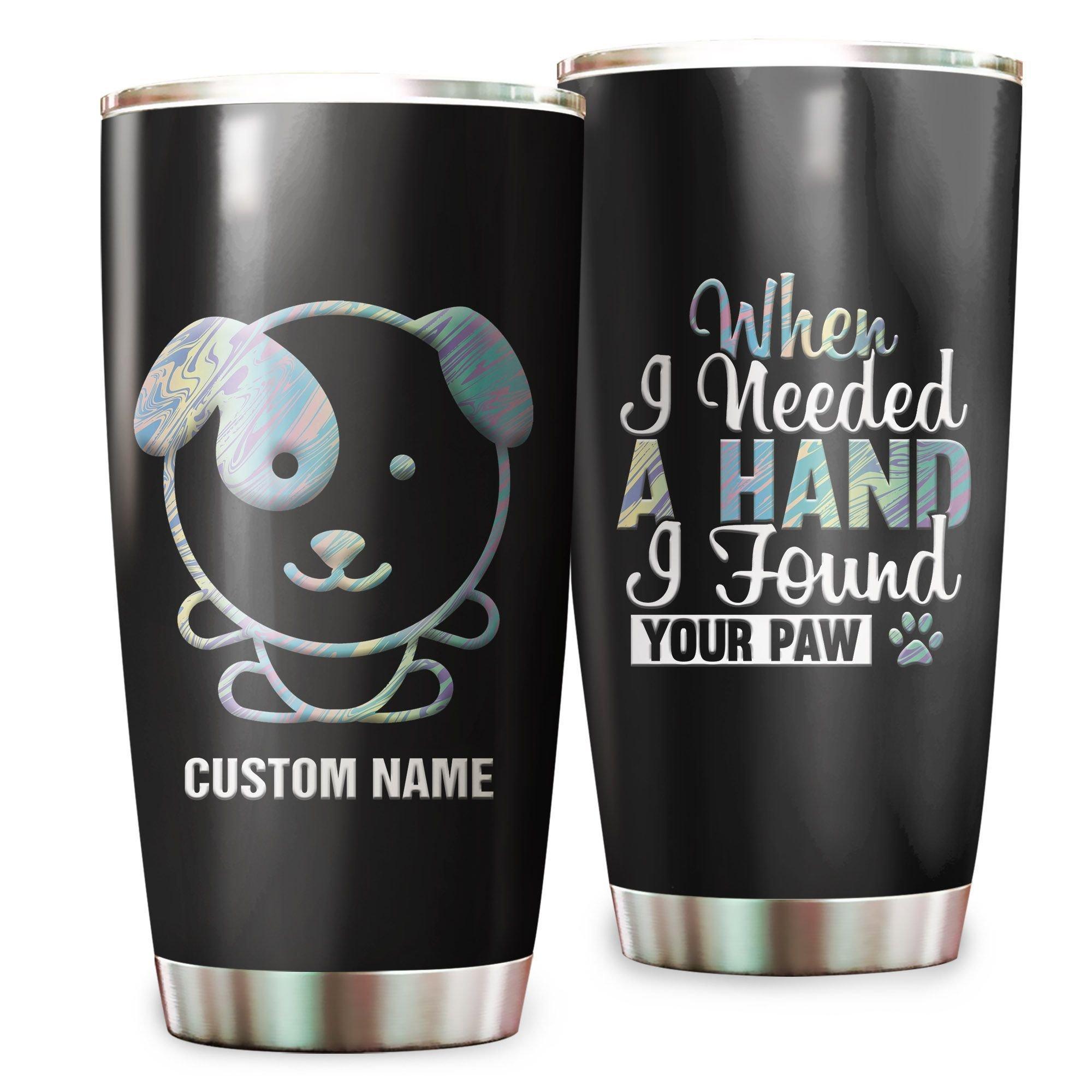 Cute Hologram Puppy Custom Name Tumbler Cup
