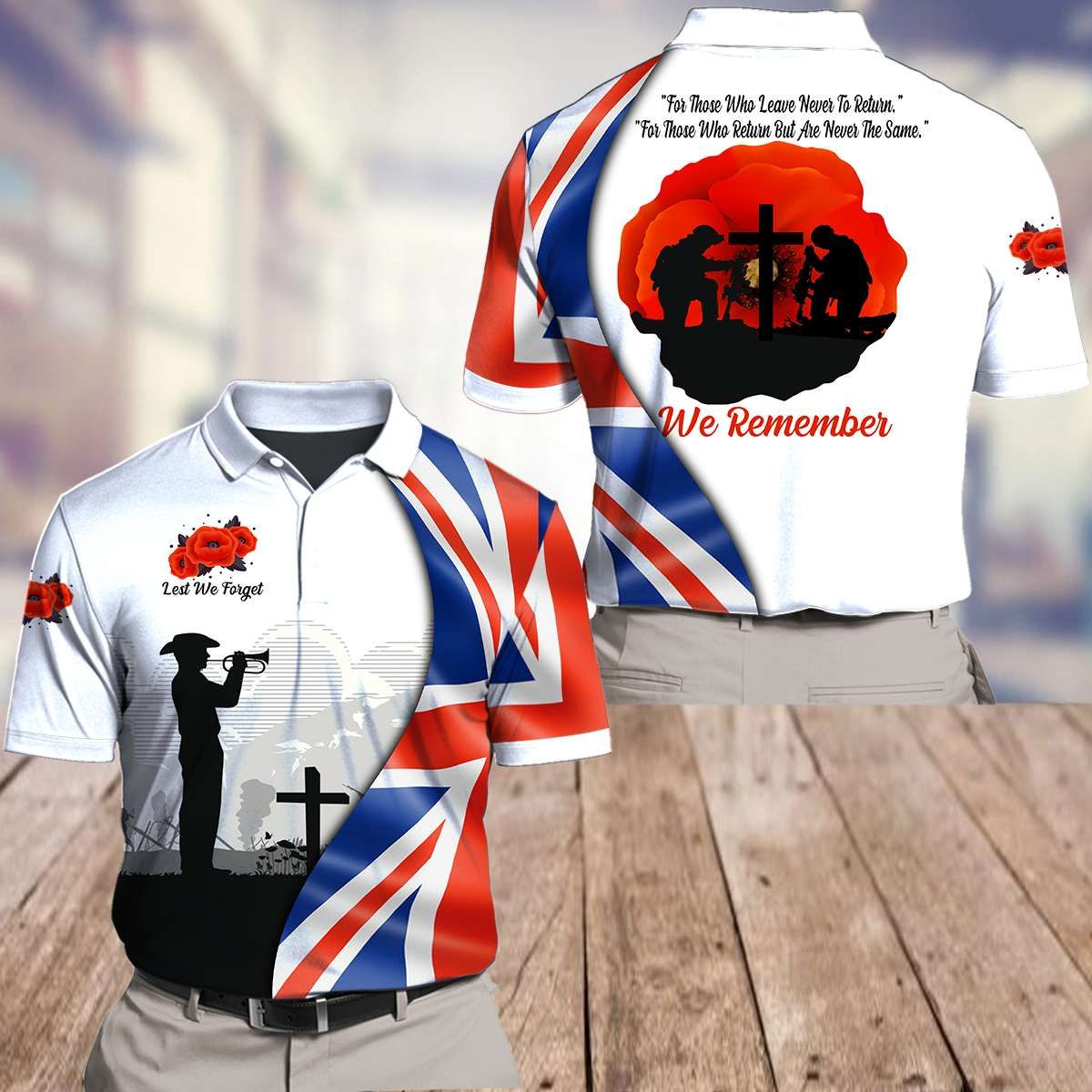 UK Remember who leave and never return 3D Polo Shirt