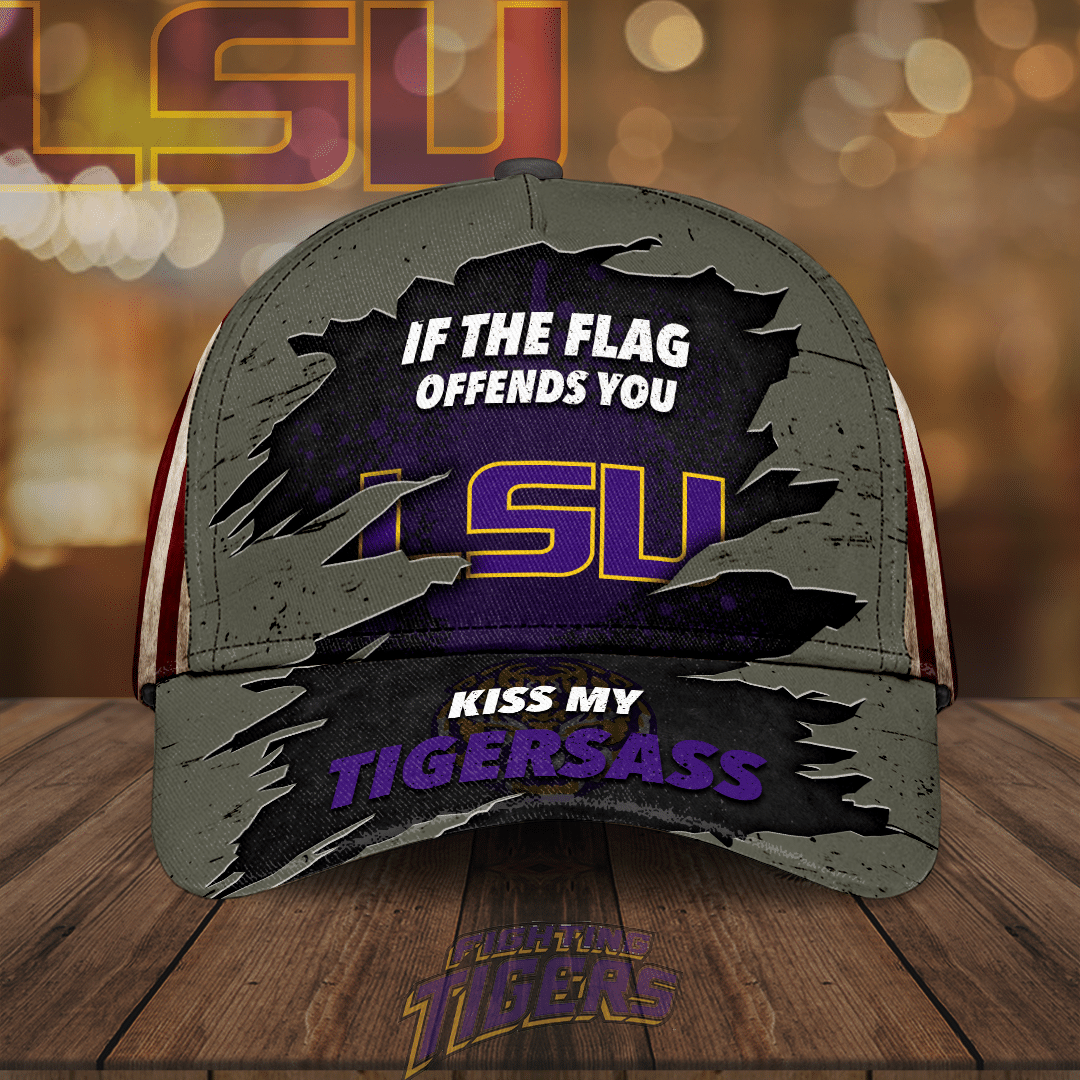 LSU Tigers If the flag offends you kiss my Tigersass Limited Cap